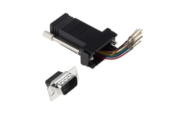 Product image for 8 way RJ45 to 9 way D plug data adaptor