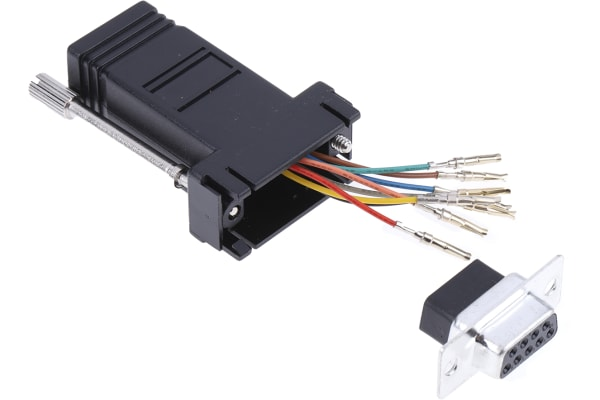 Product image for 8 way RJ45 to 9 way D skt data adaptor