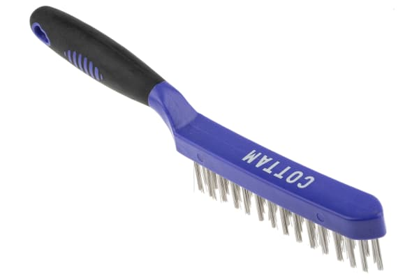 Product image for 3 row stainless steel wire brush
