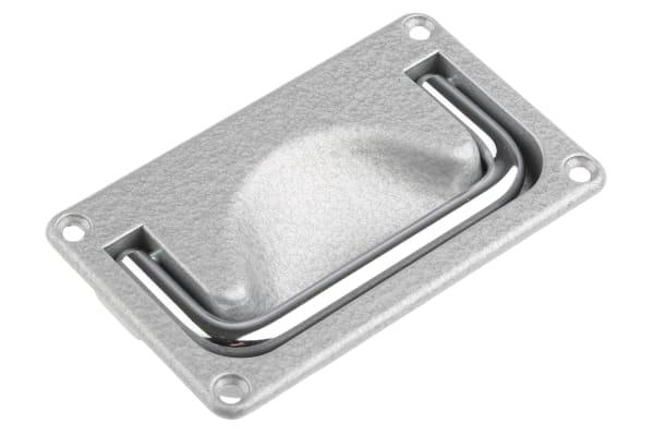 Product image for DIECAST AL FLUSH PANEL HANDLE,96X46MM
