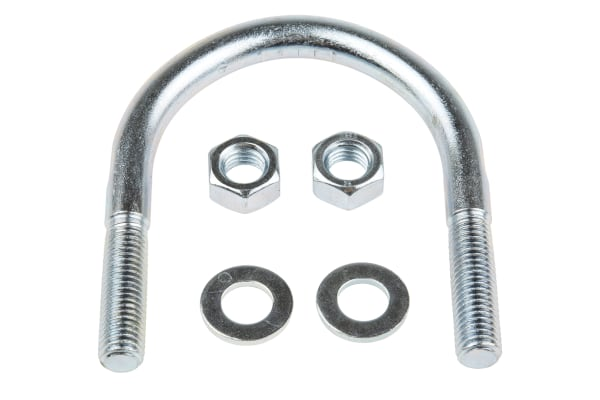 Product image for Zinc plated steel U bolt,78mm OD