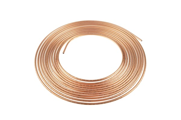 Product image for Annealed copper tube,10m L x G1/4 OD
