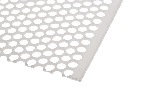 Product image for Perforated polypropylene sheet,4.8mm dia