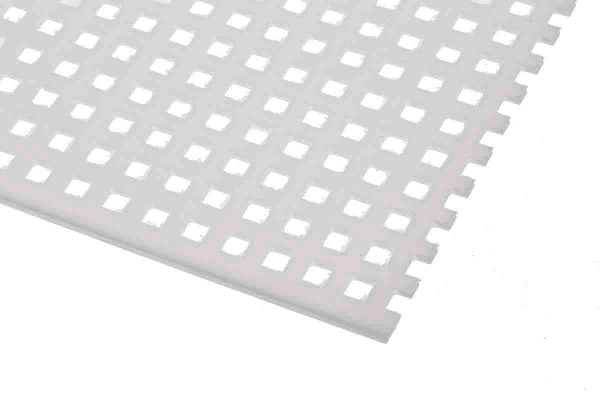 Product image for Perforated polypropylene sheet,4.7mm sq