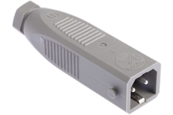 Product image for Hirschmann, ST IP54 Grey Cable Mount 2P+E Heavy Duty Power Connector Plug, Rated At 16.0A, 250.0 V