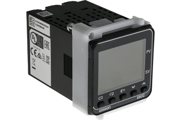 Product image for Omron E5CC Panel Mount PID Temperature Controller, 48 x 48mm 3 Input, 1 Output Relay, 100 → 240 V ac Supply