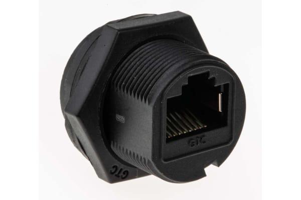 Product image for RJ45 Plastic C3 Shielded Panel Jack DIP