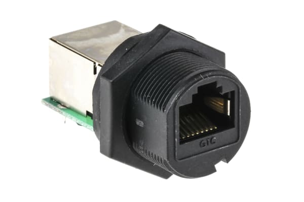 Product image for RJ45 Plastic C3 Shielded Panel Jack