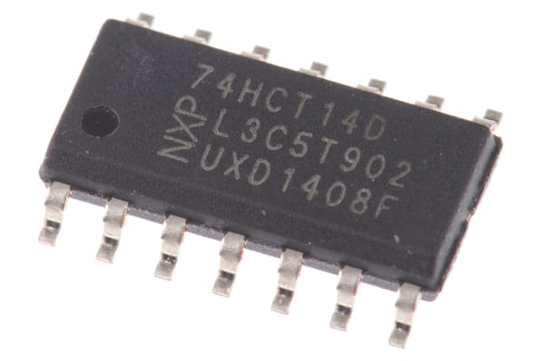 Product image for HEX INVERTOR,74HCT14D SOIC14 4.5-5.5V