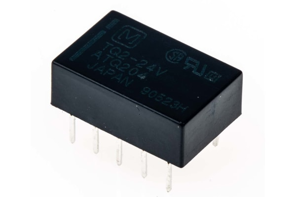 Product image for DPDT miniature HF relay, 1A 24Vdc coil