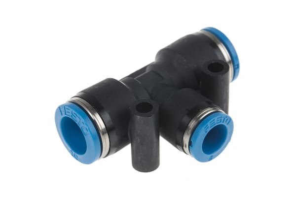 Product image for PUSH IN T CONNECTOR, 10MM, 8MM