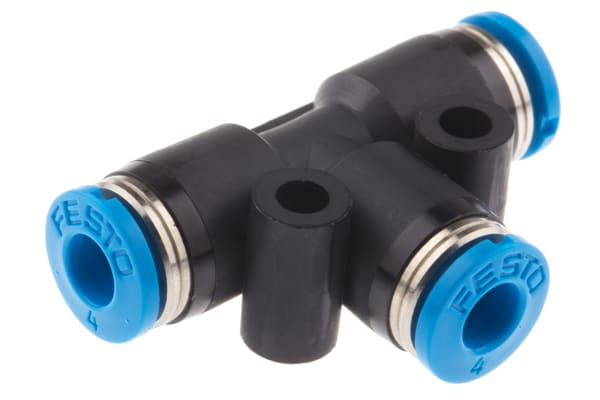 Product image for Push in T Connector, 4mm