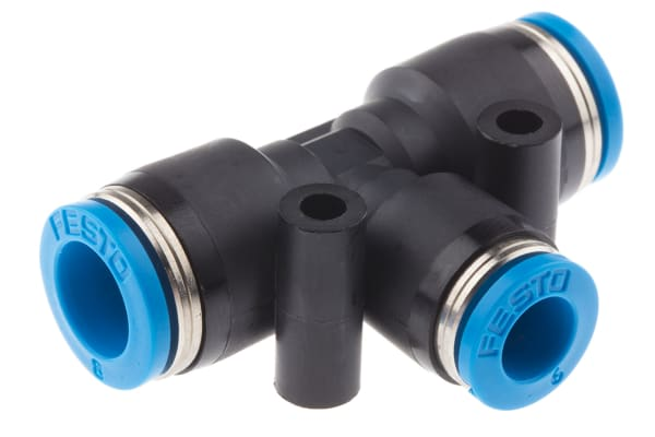 Product image for Push in T Connector, 8mm, 6mm