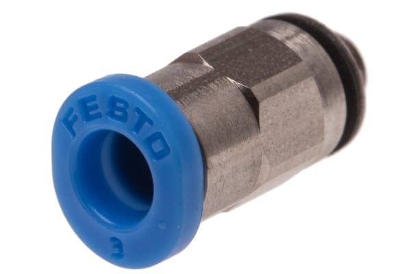 Product image for Push-in Fitting, Male M3, 3mm