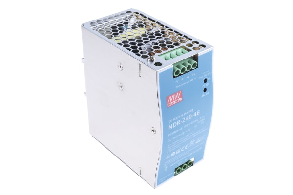 Product image for 240W DIN Rail Panel Mount PSU 48Vdc 5A