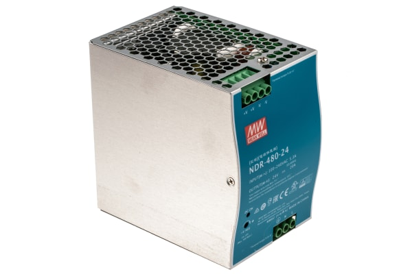 Product image for 480W DIN Rail Panel Mount PSU 24Vdc 20A