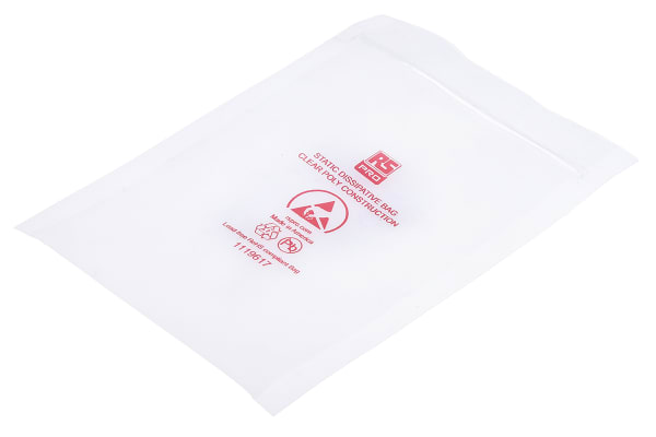 Product image for Dissipative Clear Zip Bag,100x150mm,100