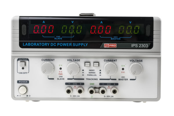 Product image for Dual output DC power supply,0-30V 3A