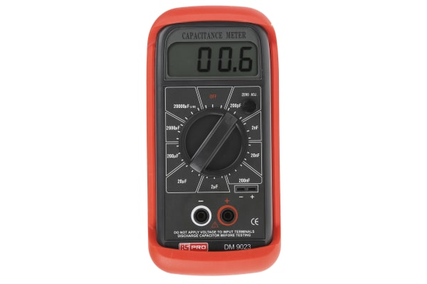 Product image for Handheld capacitance meter with LCD