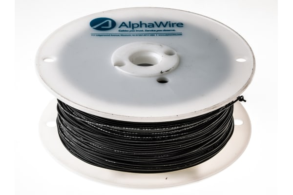 Product image for Wire 24 AWG PVC 300V UL1007 Black 305m
