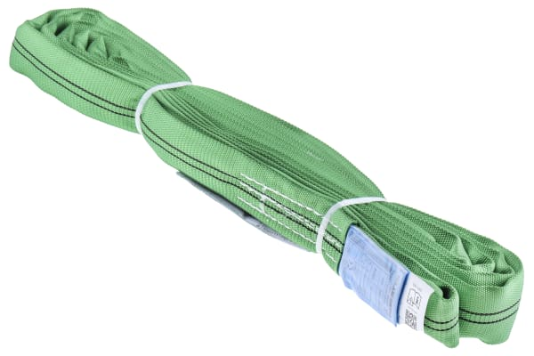 Product image for RS PRO 3m Green Lifting Sling Round, 2t