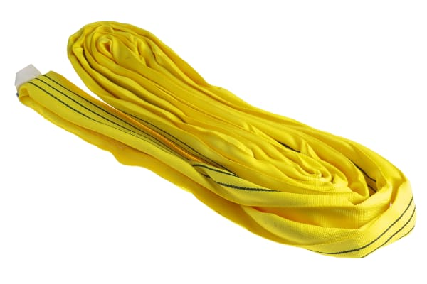 Product image for RS PRO 3m Yellow Lifting Sling Round, 3t