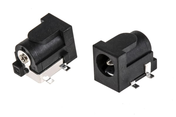 Product image for DC socket,2 A,2.5 mm, Surface Mount x 5