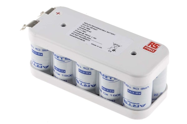 Product image for NICD BATTERY PACK 10X,12V 1.8AH