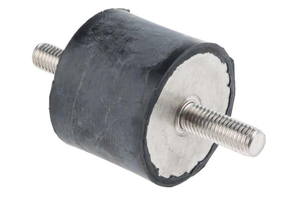 Product image for RS PRO 40mm Anti Vibration Mount M10 50mm Diameter 146 Compression Load 4mm, Anti-Vibration Mount EPDM