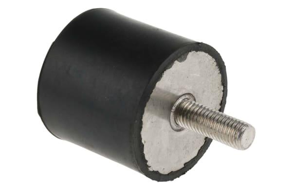 Product image for RS PRO 45mm Anti Vibration Mount M10 50mm Diameter 154.22 Compression Load 4mm, Anti-Vibration Mount