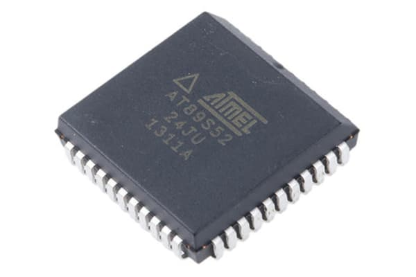 Product image for MCU 8K Flash ISP 256 RAM 24MHz 5V PLCC44