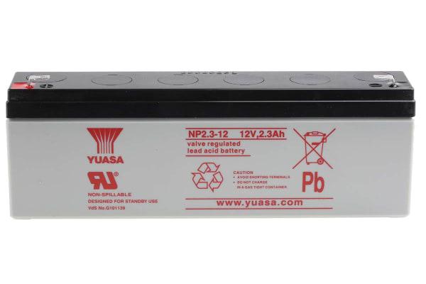 Product image for Yuasa NP2.3-12 Lead Acid Battery - 12V, 2.3Ah