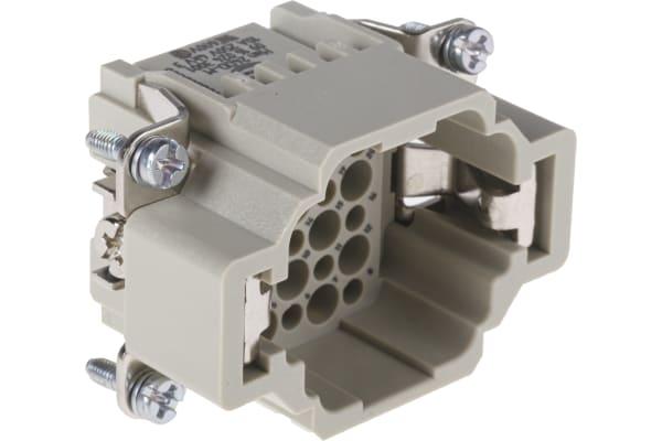 Product image for Han(R) DD 24P+E plug insert,10A 250Vac