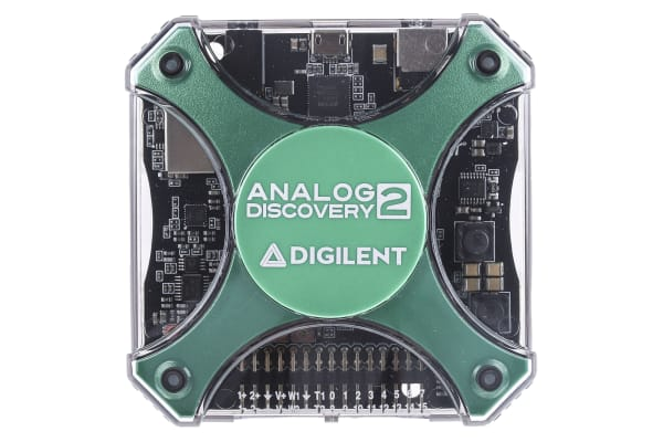 Product image for Digilent Analog Discovery 2 PC Based Oscilloscope, 30MHz, 2 Channels