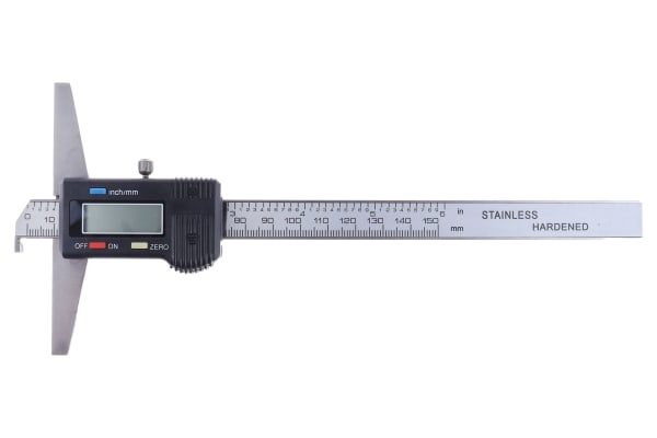 Product image for RS PRO 150mm Imperial & Metric Depth Gauge, Stainless Steel