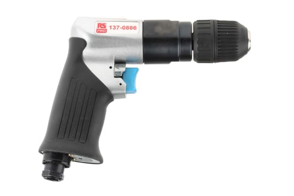 Product image for RS PRO 10mm Reversible Air Drill, 1/4in Air Inlet (BSP) , 1800rpm