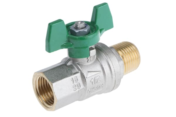 Product image for Brass ball valve 1/2'' male by female