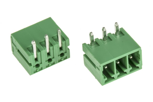 Product image for 3.5mm pluggable terminal block,header,3P