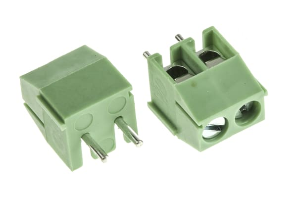 Product image for 3.5mm low profile PCB terminal block, 2P