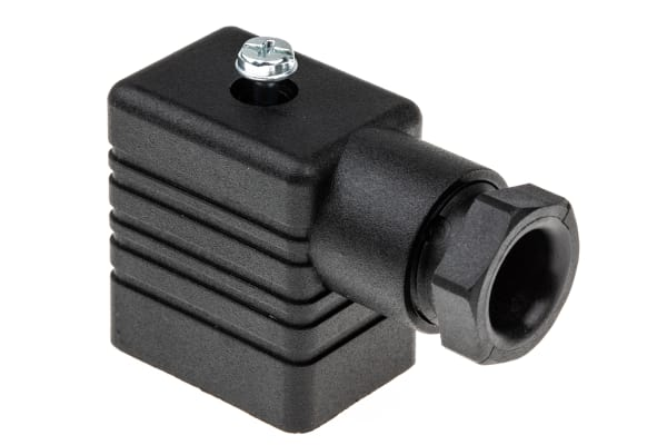 Product image for Hirschmann, GM 2P+E DIN 43650 B, Female Solenoid Valve Connector, 250 V ac/dc Voltage