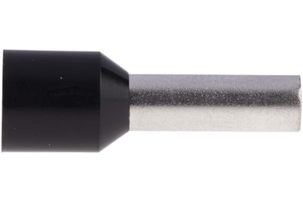 Product image for Blk insulated bootlace ferrule,12mm pin