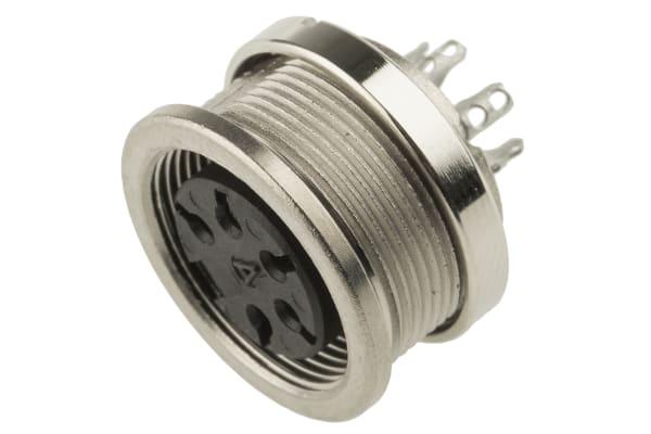 Product image for 5 way IP67 DIN panel socket,5A 250V