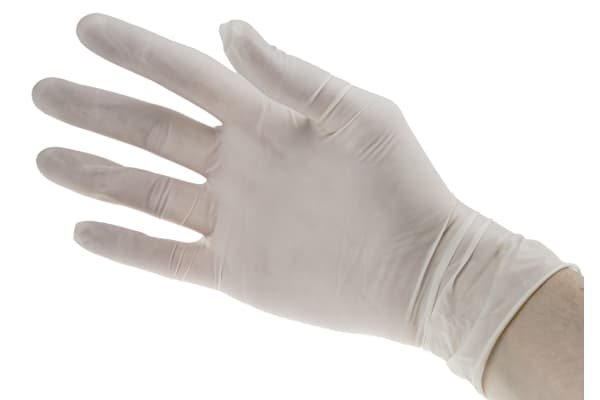 Product image for GN03 NATURAL LATEX POWDERED GLOVE 100 XL