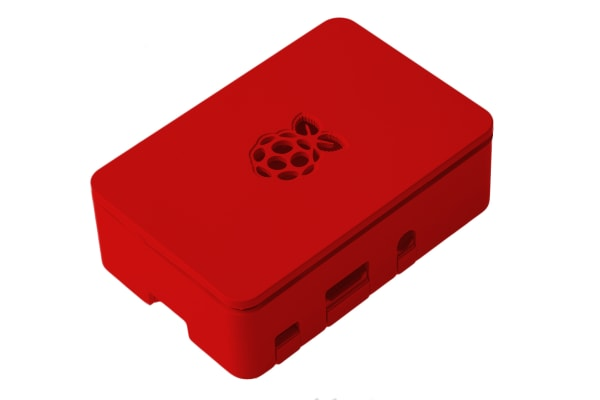 Product image for DesignSpark For Use With Raspberry Pi 2B, Raspberry Pi 3B, Raspberry Pi 3B+, Red Raspberry Pi Case