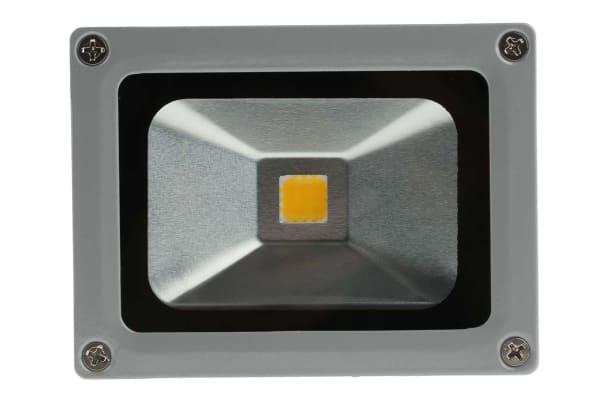 Product image for RS PRO LED Floodlight, 1 LED, 10 W, 850 → 950 lm, IP65 85 → 265 V ac