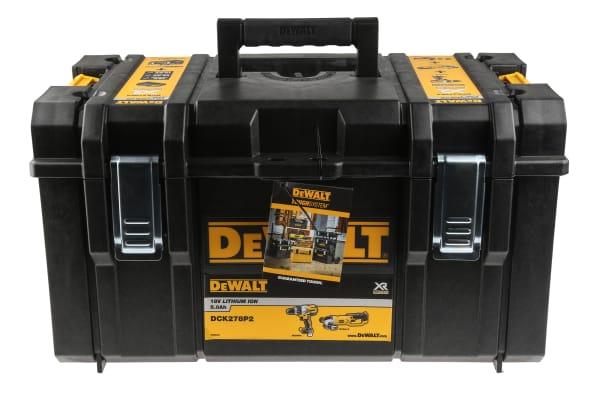 Product image for DeWALT DCK278P2-GB, 18V Cordless Cordless Power Tool Kit
