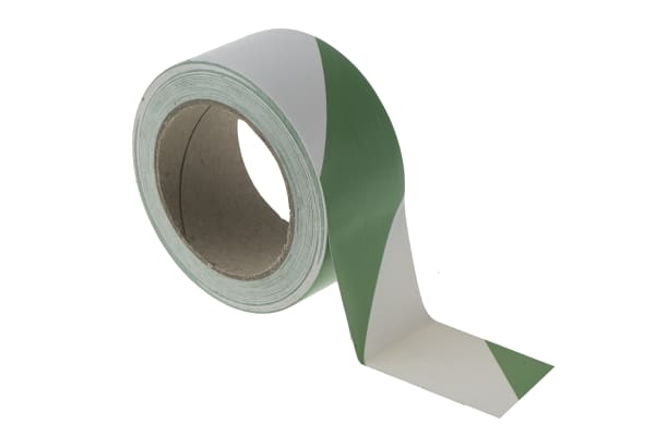 Product image for Floor marking tape Green & White50mmx33m