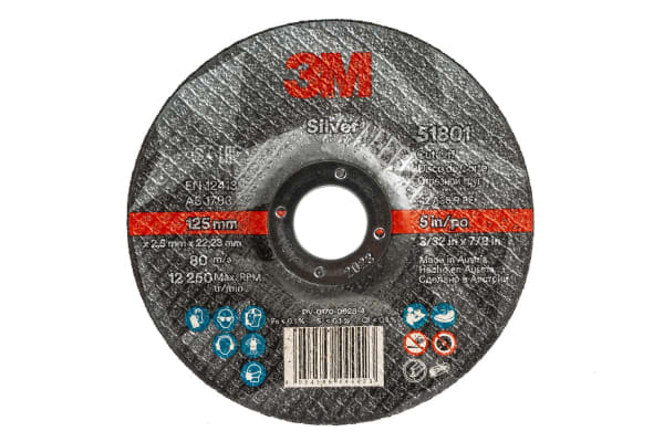 Product image for 3M SILVER CUT-OFF WHEEL T42