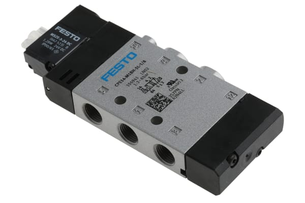 Product image for Festo 5/2 Solenoid Pilot Valve - Electrical G 1/8 CPE Series 24V dc
