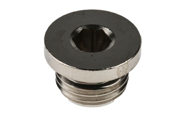 Product image for RS PRO NBR G 1/4 Male Blanking Plug